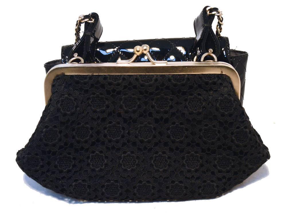 4ba9a4acb9e Chanel Black Patent Leather Shoulder Bag