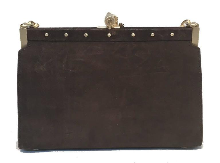 Black Barry Kieselstein-Cord Brown Suede Handbag For Sale