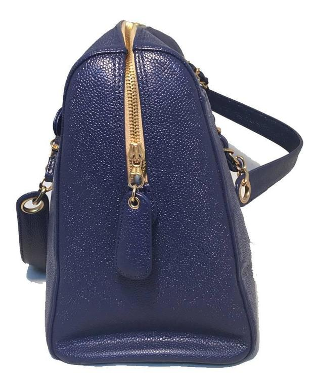 Chanel Royal Blue Caviar Leather Shoulder Bag Tote 2