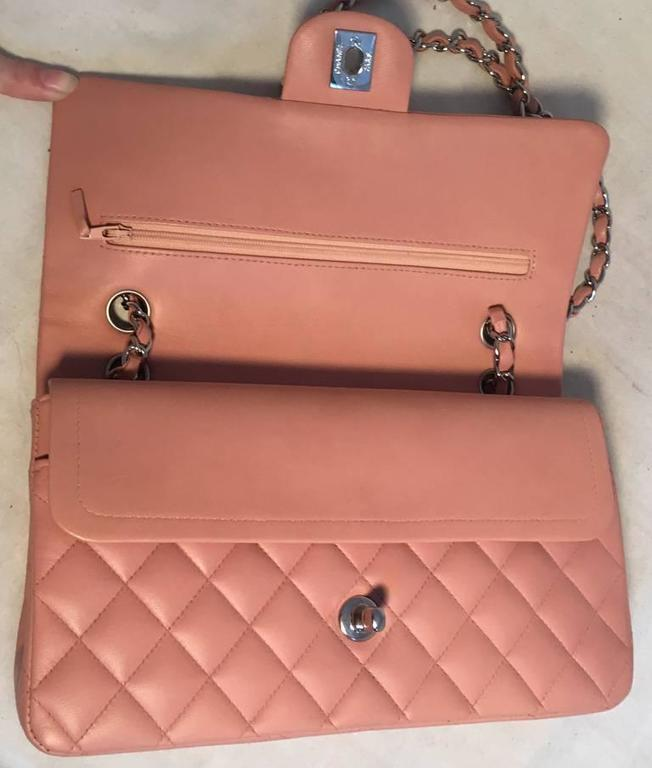 910caffb6f70 Women's CHANEL Nude Pink Lambskin Double Flap Classic 2.55 Shoulder Bag For  Sale