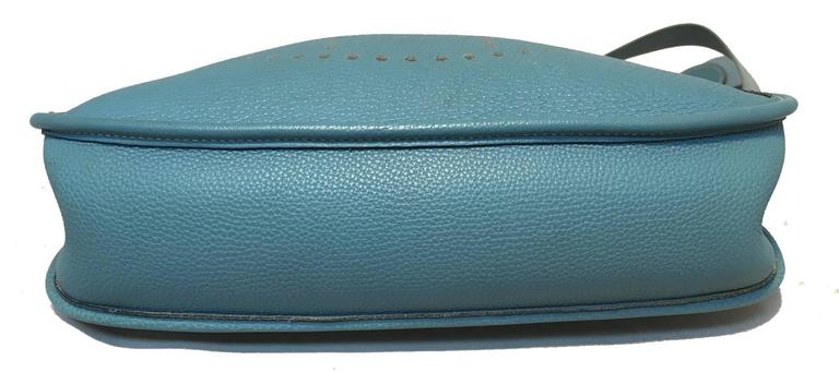 Hermes Blue Jean Togo Leather Evelyn PM I  8