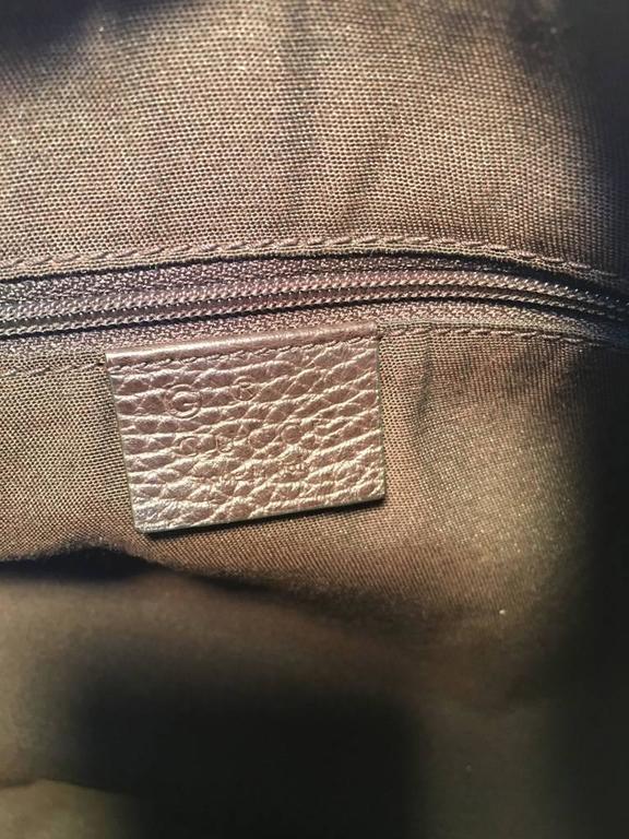 GUCCI Coated Monogram Canvas Saddle Buckle Shoulder Bag For Sale 2