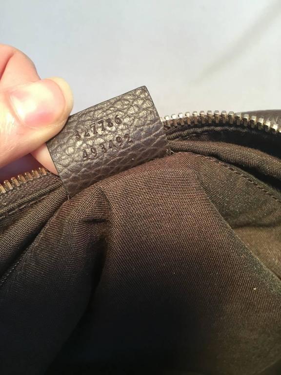GUCCI Coated Monogram Canvas Saddle Buckle Shoulder Bag For Sale 3