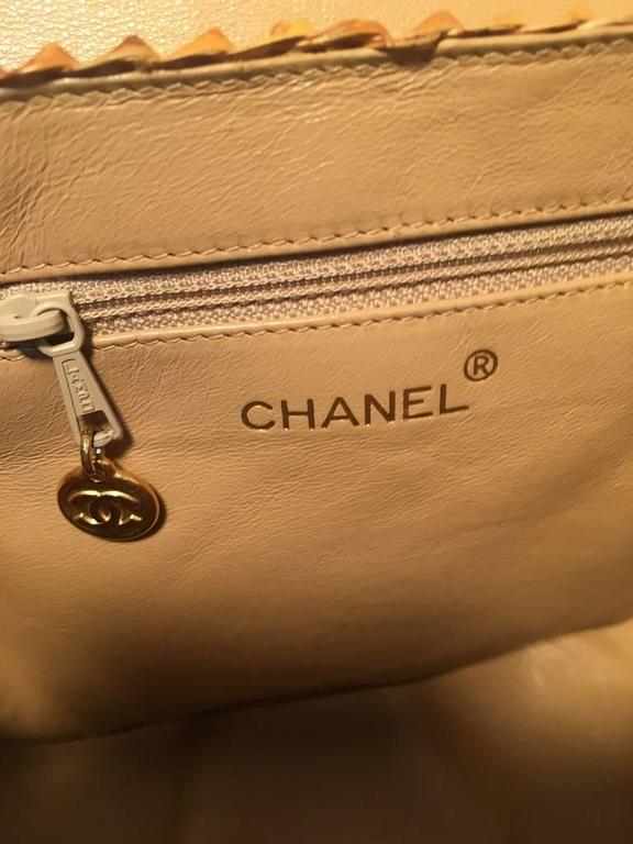 Chanel Tan Rattan and Leather Basket Shoulder Bag 8