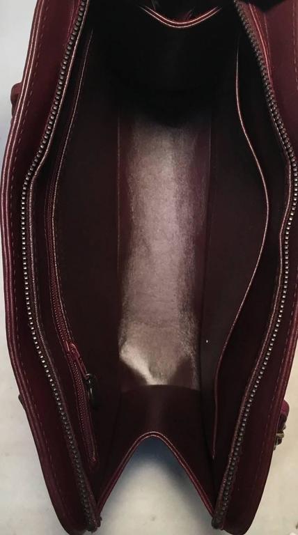 Chanel Maroon Leather Handbag  5