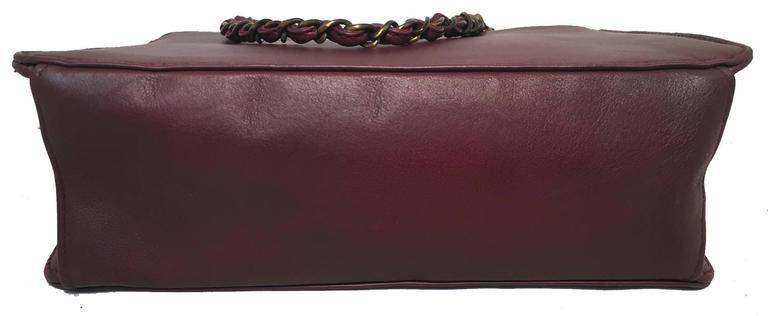 Chanel Maroon Leather Handbag  4