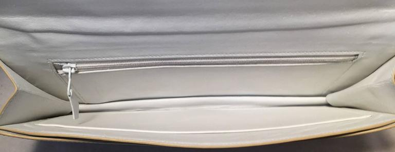 Women's RARE Hermes Vintage White Leather Clutch  For Sale