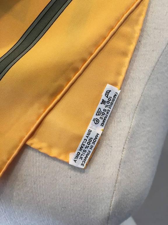 Hermes Vintage Le Temps des Marionnettes Silk Scarf in Golden Yellow 8