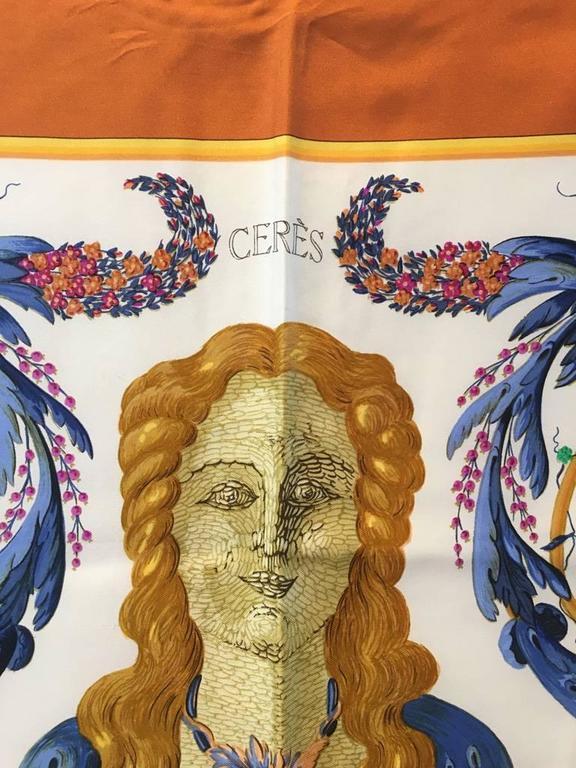 Women's or Men's Hermes Vintage Cerés Silk Scarf c1960s For Sale