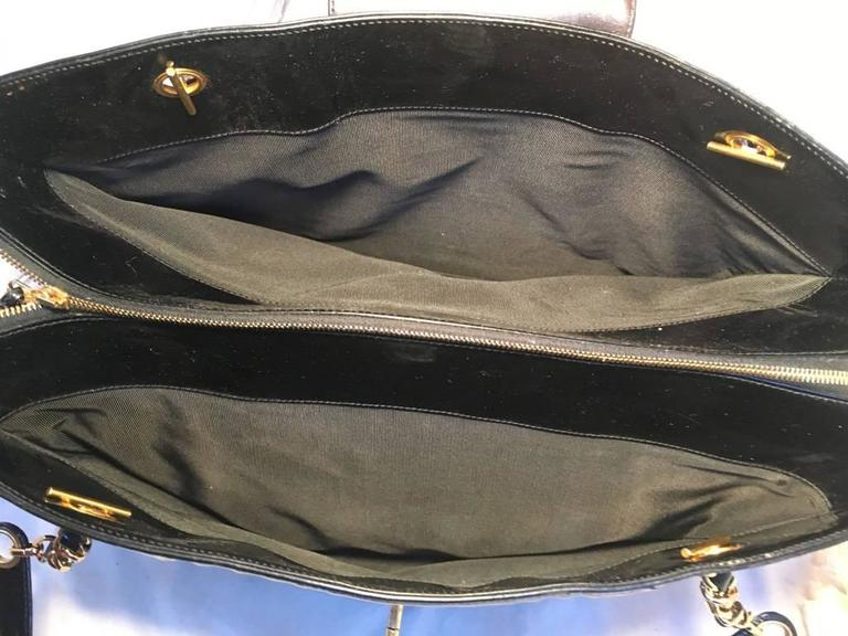 Chanel Black Patent Leather Model Overnighter Tote For Sale 1