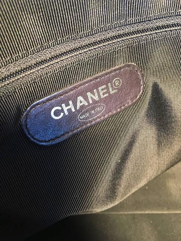 Chanel Black Patent Leather Model Overnighter Tote For Sale 5