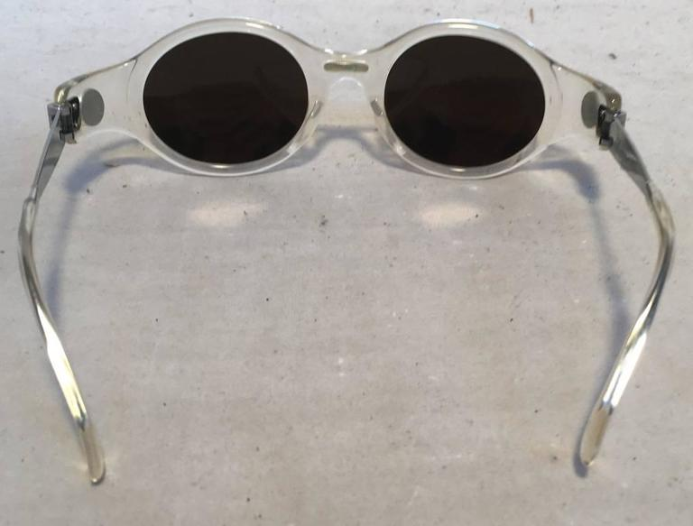 Jean Paul Gaultier Vintage Clear Framed Sunglasses 2