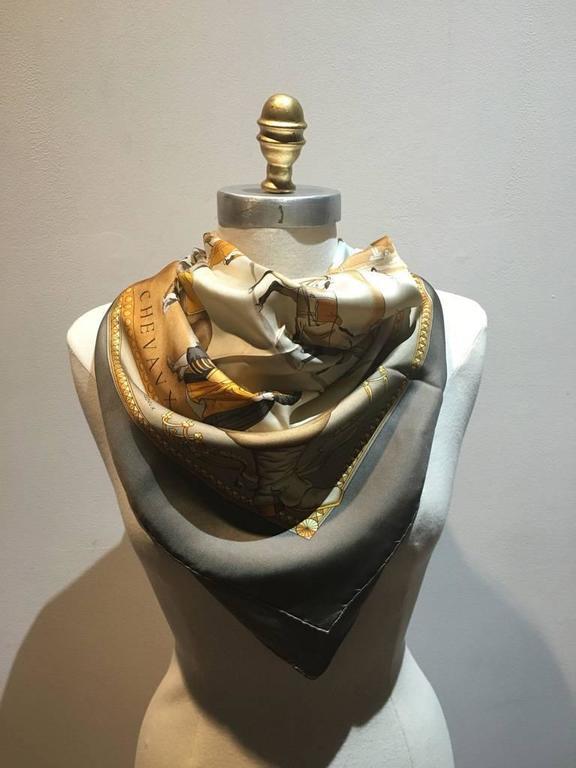 Hermes Vintage Presentation de Chevals Silk Scarf 2