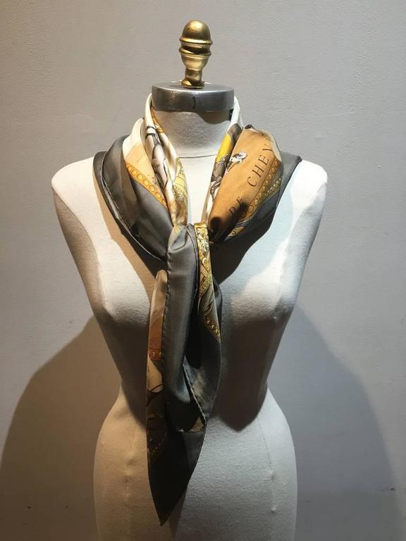 Hermes Vintage Presentation de Chevals Silk Scarf 3