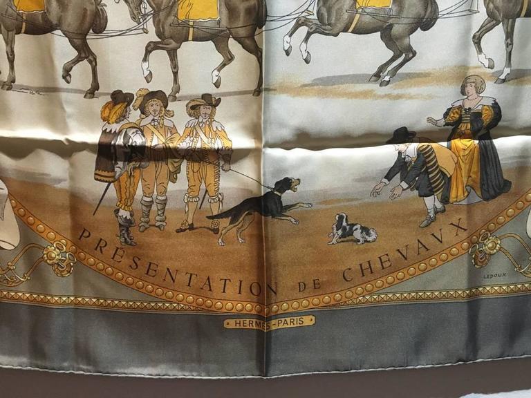Hermes Vintage Presentation de Chevals Silk Scarf 6