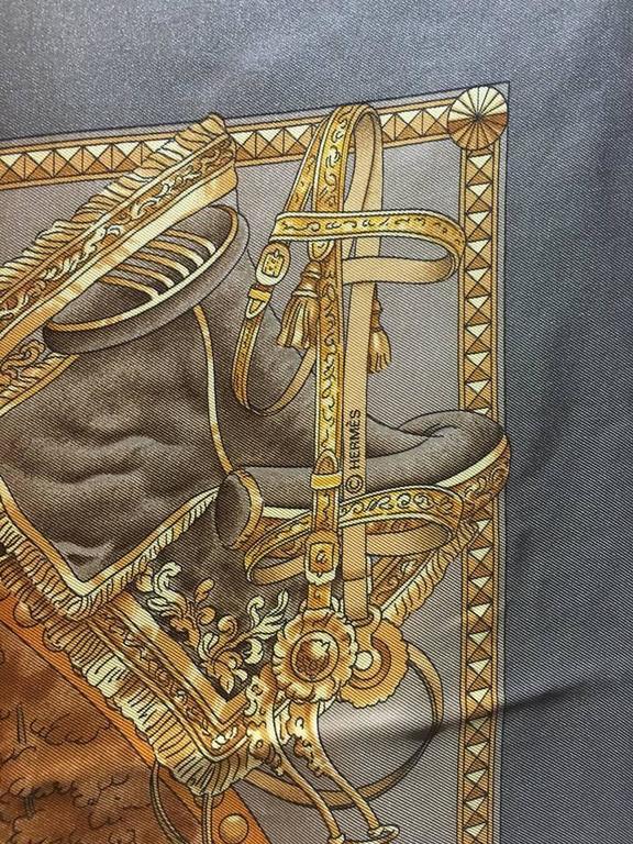 Hermes Vintage Presentation de Chevals Silk Scarf 5