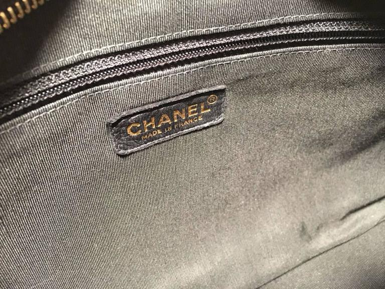 Chanel Black Quilted Patent Leather Shopper Tote Shoulder Bag 8
