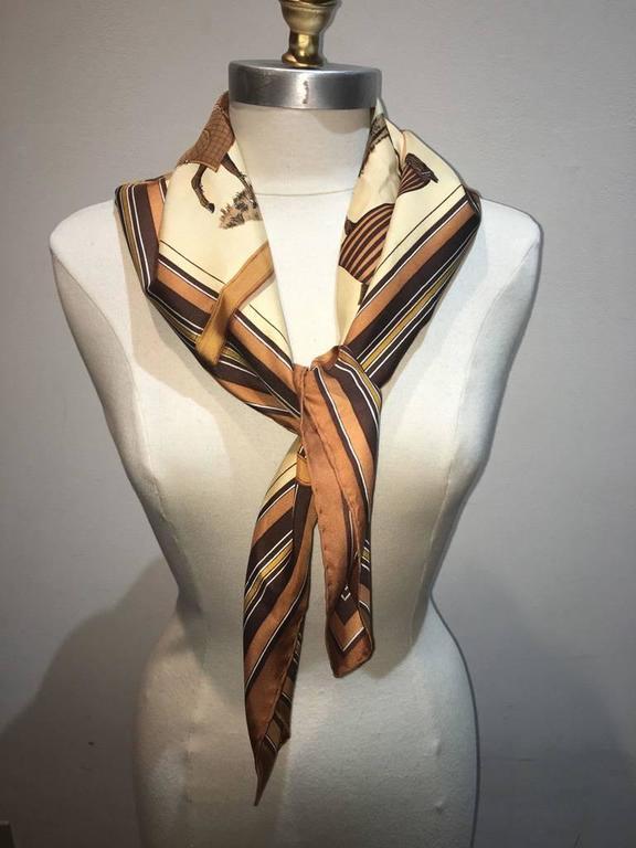Hermes Couvetures et Tenues Silk Scarf  3
