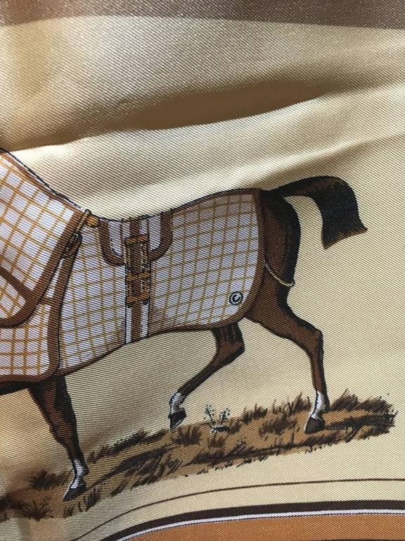 Hermes Couvetures et Tenues Silk Scarf  8