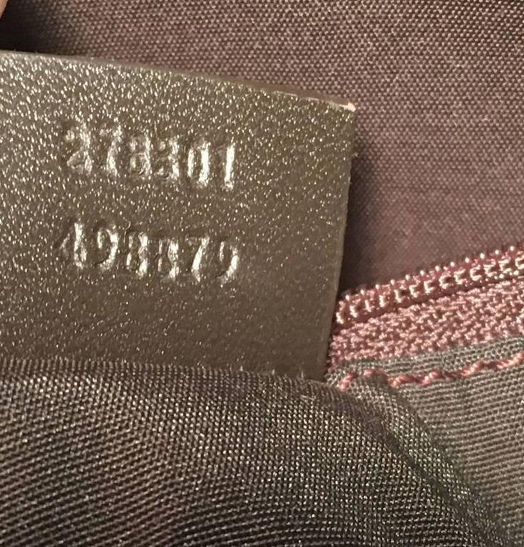 Gucci XL Coated Monogram Canvas Slim Messenger Shoulder Bag For Sale 1