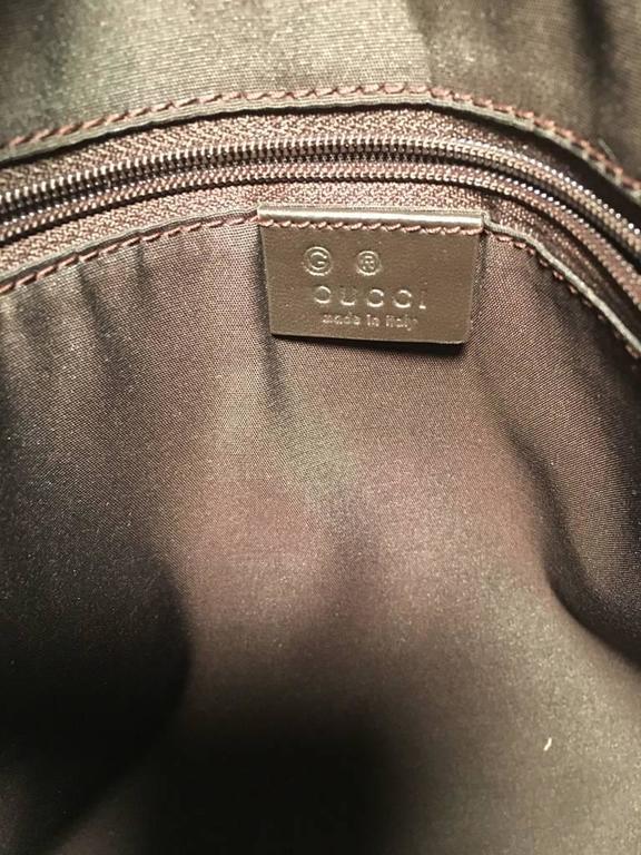 Women's or Men's Gucci XL Coated Monogram Canvas Slim Messenger Shoulder Bag For Sale