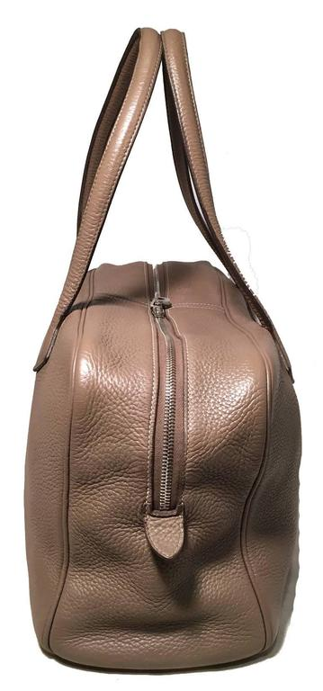 Brown Hermes Grey Clemence Leather Victoria II 35 For Sale