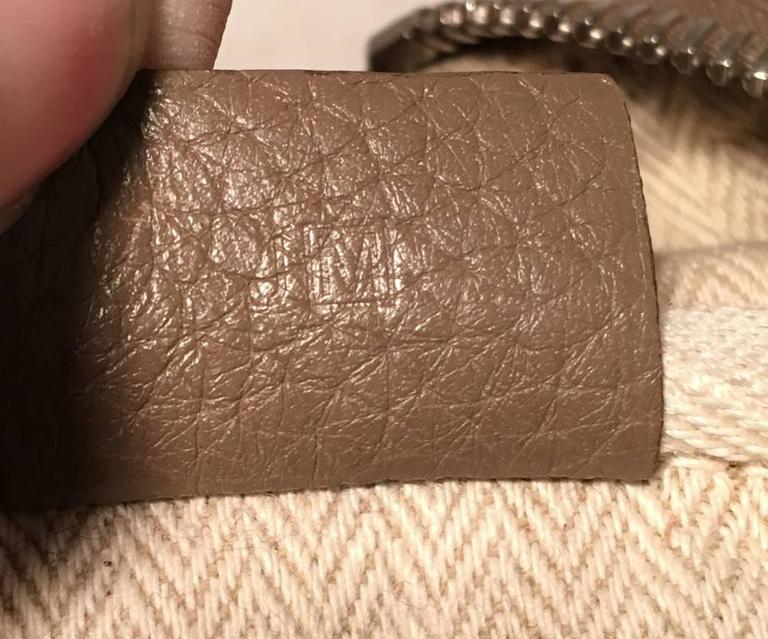 Hermes Grey Clemence Leather Victoria II 35 For Sale 1