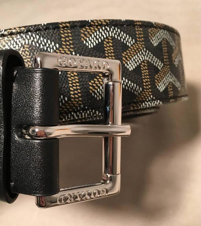 Goyard Black Canvas Monogram 100cm Belt 3