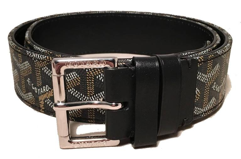 Goyard Black Canvas Monogram 100cm Belt 2