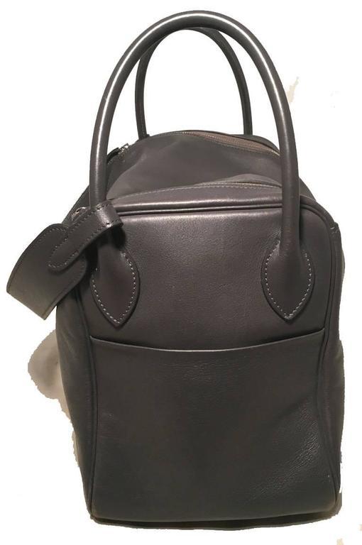 Women's Hermes Grey Swift Leather Lindy Bag