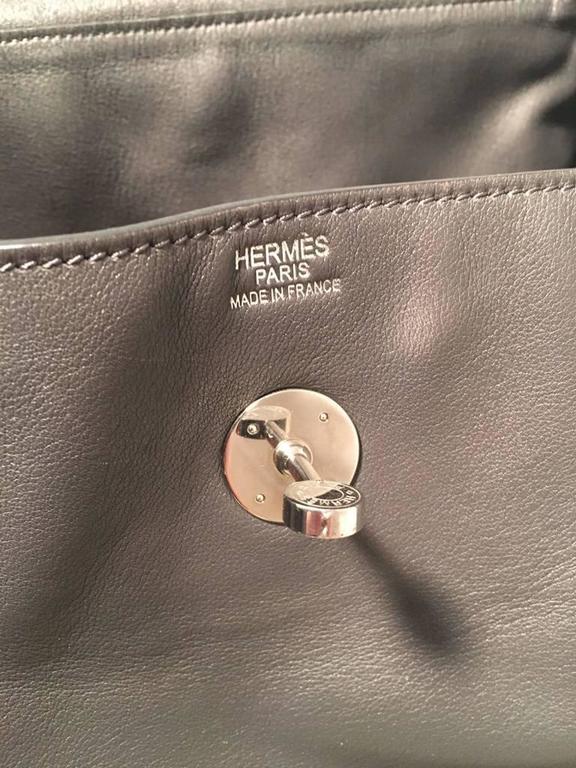 Hermes Grey Swift Leather Lindy Bag 5