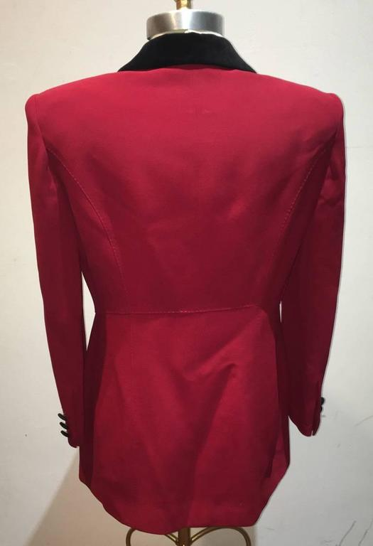 Moschino Couture Vintage Black and Red Women's Blazer Size 12 For Sale 1