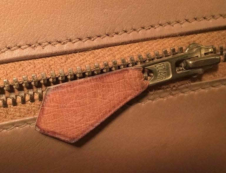 Hermes Vintage Tan Ostrich Leather Shoulder Bag 8