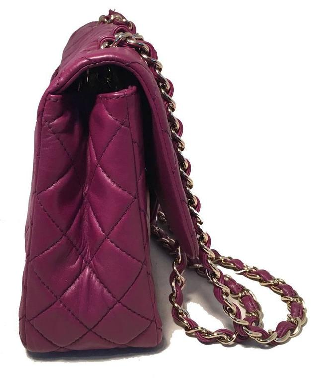 Chanel Purple Leather Jumbo Classic Flap Shoulder Bag 3