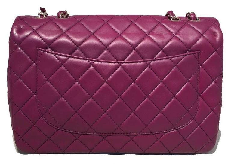 Chanel Purple Leather Jumbo Classic Flap Shoulder Bag 2