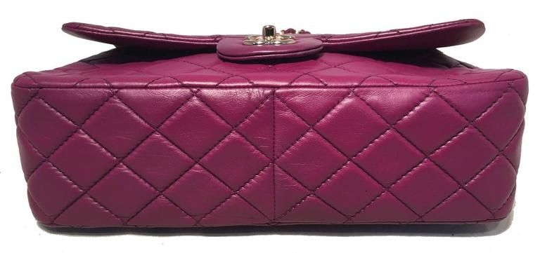 Chanel Purple Leather Jumbo Classic Flap Shoulder Bag 4