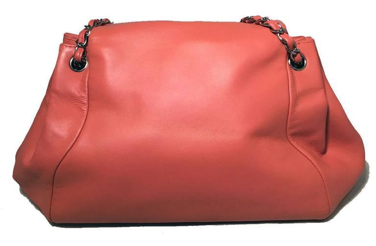 Chanel Coral Leather Top Flap Shoulder Bag  3