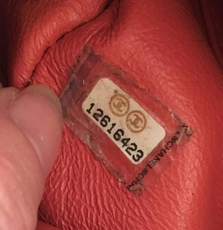 Chanel Coral Leather Top Flap Shoulder Bag  8