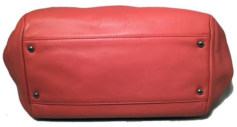 Women's Chanel Coral Leather Top Flap Shoulder Bag  For Sale