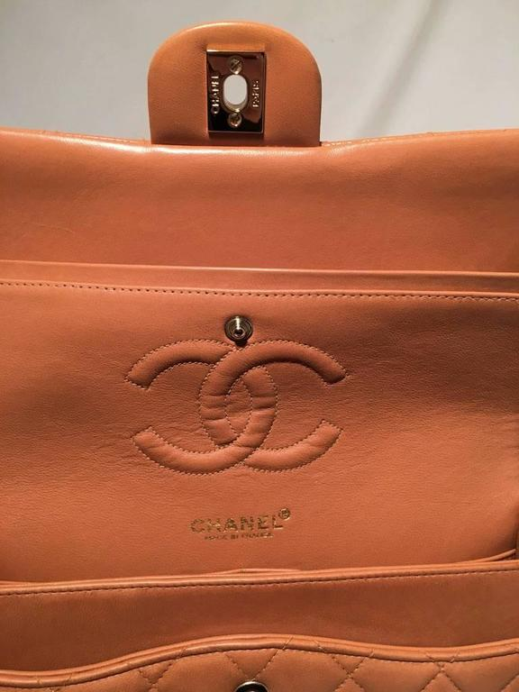 21ca49f8017c80 Chanel Camel Leather 2.55 10inch Double Flap Classic Shoulder Bag For Sale 1