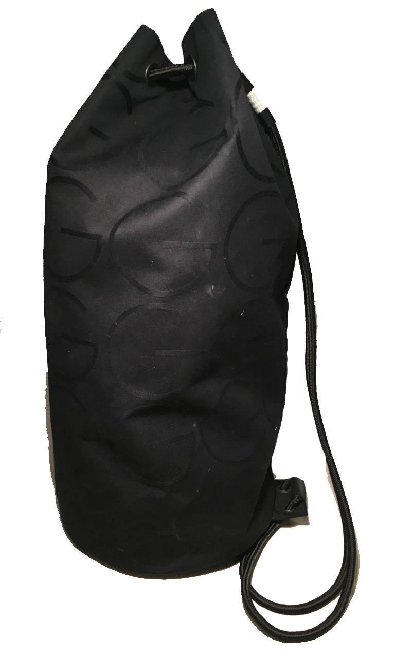 07f00ea6dc13 RARE Gucci Black Canvas Sling Backpack Bag