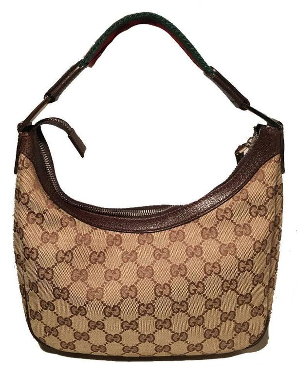 RARE Gucci Monogram Canvas Mini Handbag 2