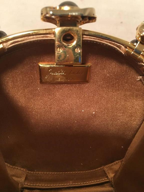 Judith Leiber Vintage Gold and Pearl Minaudiere Evening Bag For Sale 3