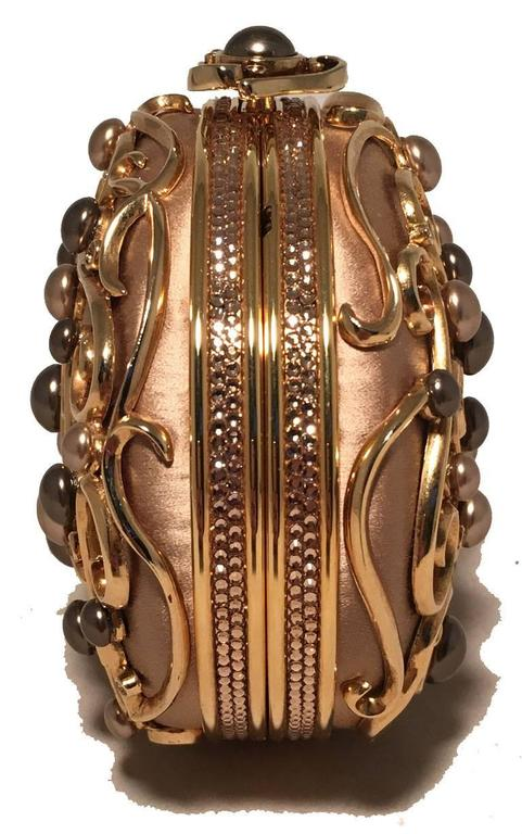 Judith Leiber Vintage Gold and Pearl Minaudiere Evening Bag 6