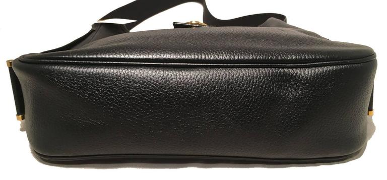 Hermes Vintage Black Leather Shoulder Bag 4