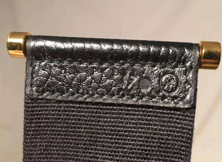 Hermes Vintage Black Leather Shoulder Bag 9