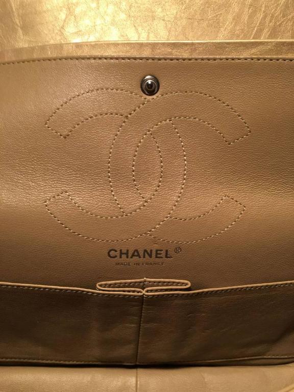 Chanel Gold Leather 2.55 Reissue 226 Double Flap Classic  For Sale 3