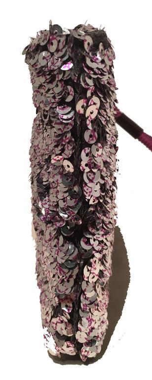 Black Limited Edition Louis Vuitton Violette Sequin Rococo Pochette Clutch Bag For Sale