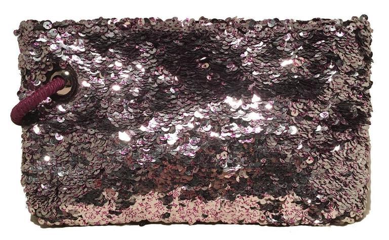 Limited Edition Louis Vuitton Violette Sequin Rococo Pochette Clutch Bag 2