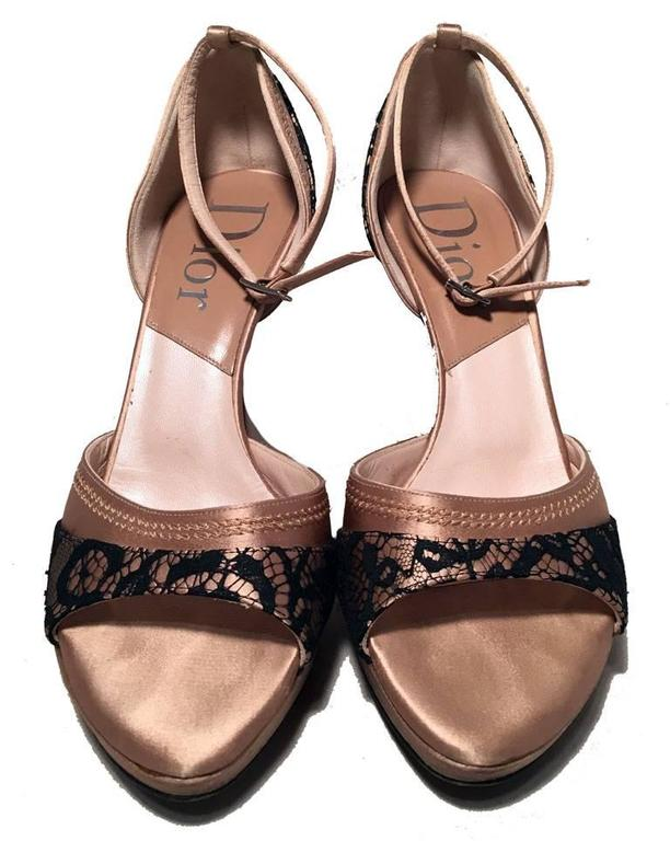 Christian Dior Satin Lace Sandals free shipping sneakernews under $60 online outlet how much cheap sale fast delivery lXtkosqhZZ